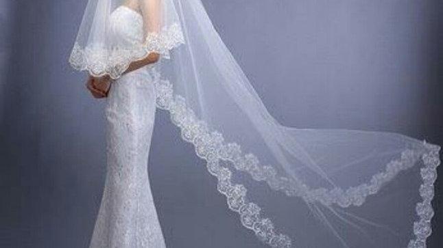 Elegant Long Lace Veil