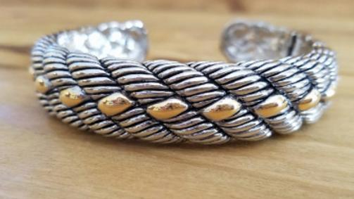 Designer Inspired Tone Rope Bangle