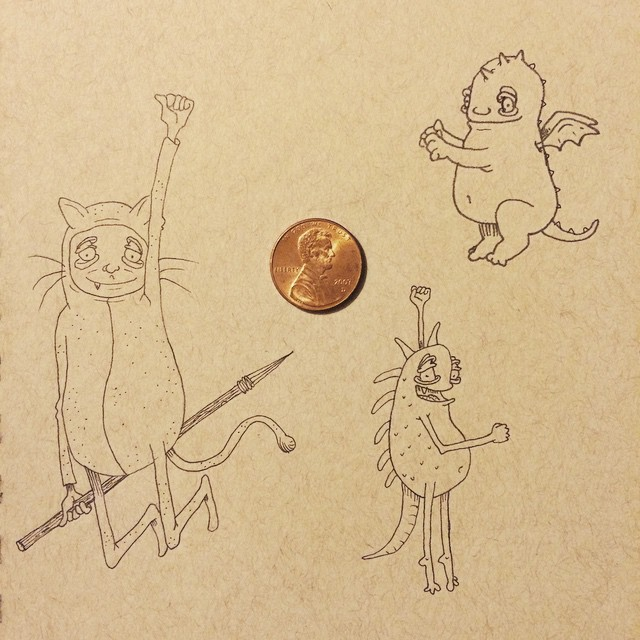Instagram - Workin' on more lil dudes!  #draw #drawing #illustration #diamond #g