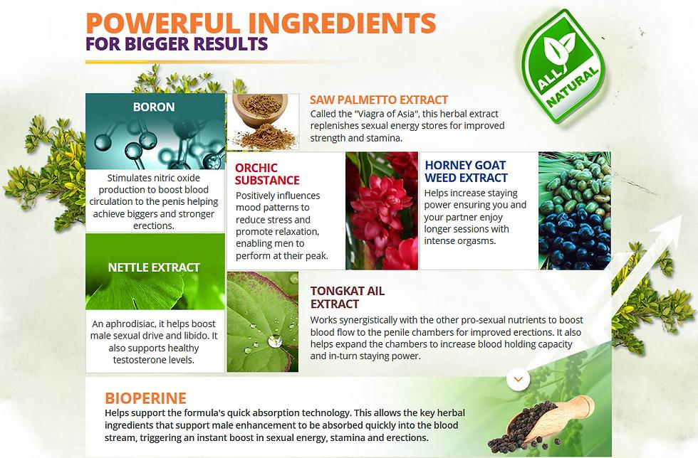 Testoryze Male Enhancement Ingredients
