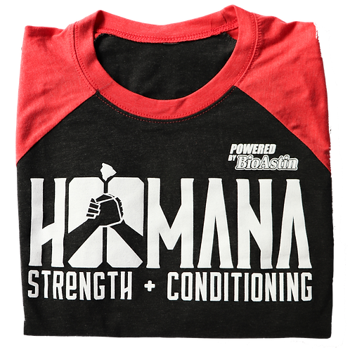 BLACK / RED  Ho'omana Three-Quarter-Sleeve Shirt