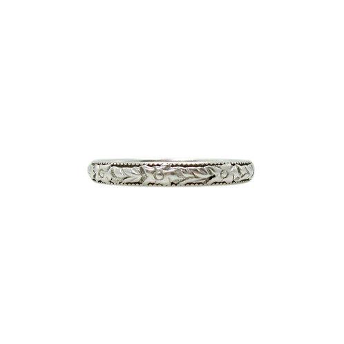 Vintage Art Deco Orange Blossom Platinum Ring