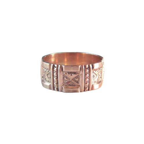 Antique Rose Gold Ring | Victorian Wedding Band