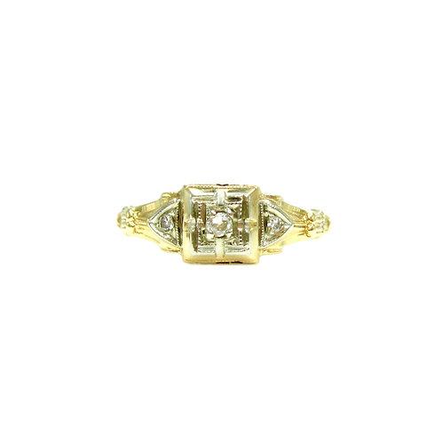 Vintage Old Mine Cut Diamond Engagement Ring