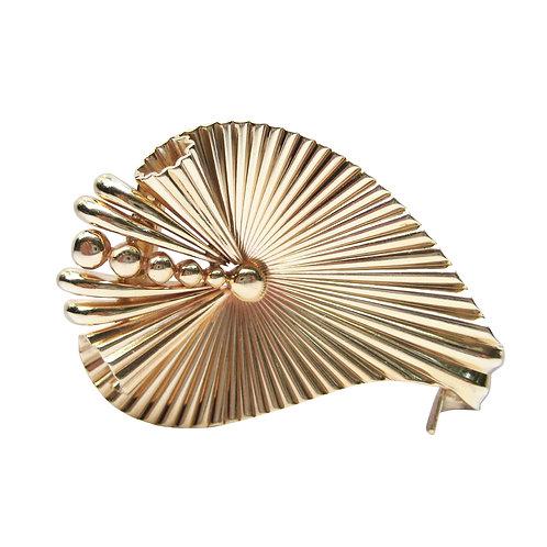 Cartier George Schuler 14K Gold Vintage Brooch