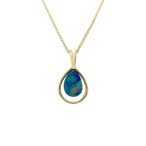 Opals Australia 14K Pear Shaped Opal Pendant