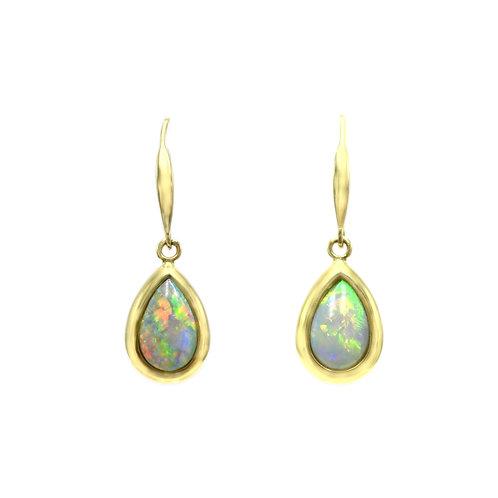 Opals Australia 14K Gold Opal Dangle Earrings