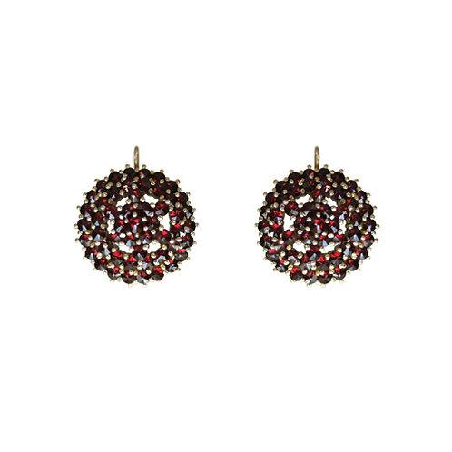Bohemian Garnet & Silver Earrings | Granat Turnov