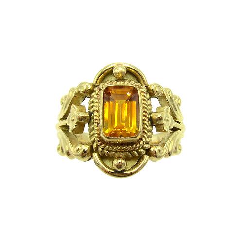 Michael Schofield & Co. Yellow Sapphire 18K Ring
