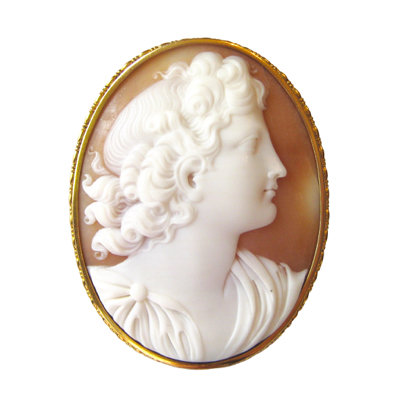 Neo-Classical Shell Cameo Brooch
