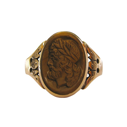 Ripley-Howland Co. Tiger's Eye Cameo Ring