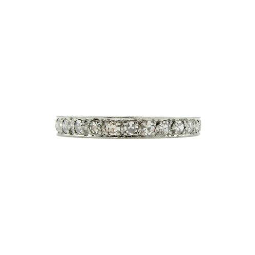 Vintage Diamond & Platinum Eternity Wedding Band