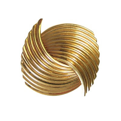 Tiffany & Co. Swirl 14K Gold Retro Brooch