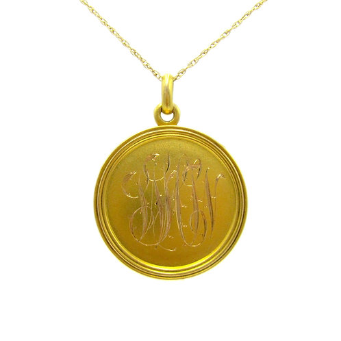 Riker Bros. Art Nouveau 14K Monogrammed Locket