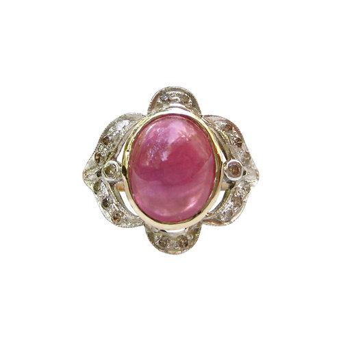 Pink Tourmaline & Diamond Cocktail Ring