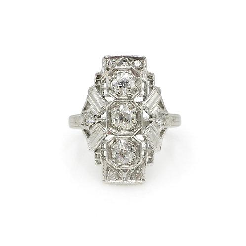 Art Deco .65 CTW Diamond & Platinum Vintage Dress Ring