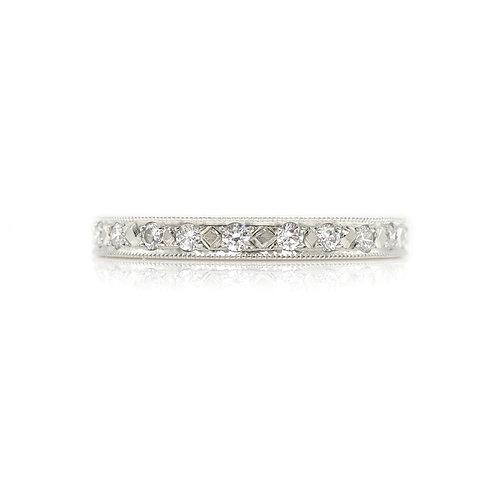 Vintage .50 CTW Diamond & Platinum Eternity Band Wedding Ring