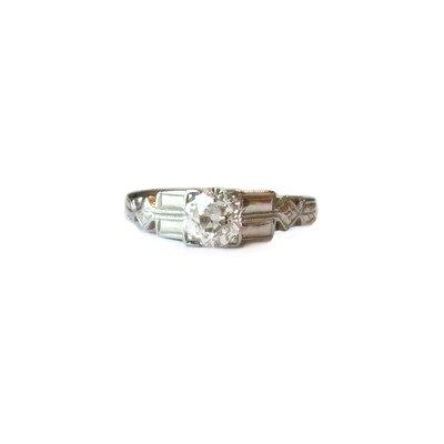 .50 Carat Diamond Vintage 18K Engagement Ring