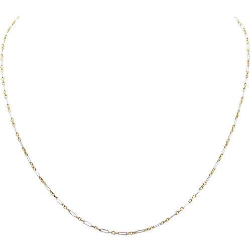 Edwardian Platinum & 15K Rose Gold Fine Chain