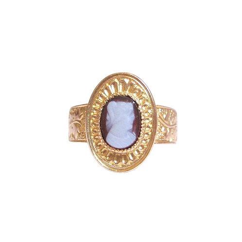 Victorian Red Sardonyx Hardstone Roman Cameo Ring