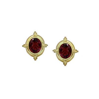 Vintage Theo Fennell Tourmaline Earrings