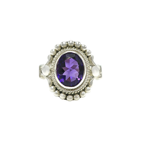 Michael Schofield Amethyst & Sterling Silver Ring