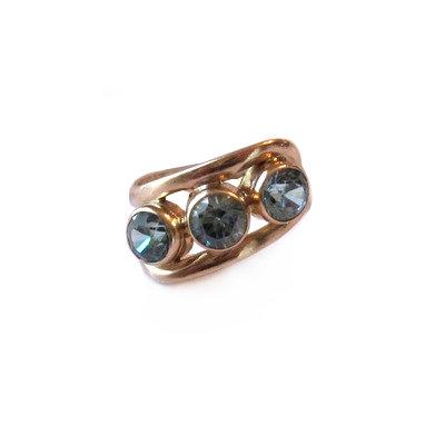 Church & Co. Vintage Blue Zircon Ring