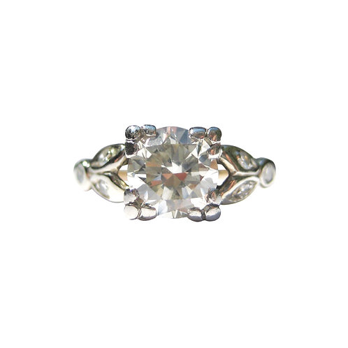 Vintage 1 Carat Old European Cut Diamond Solitaire