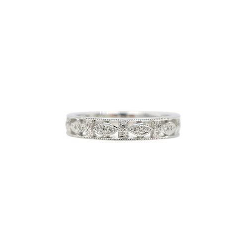 Diamond & 18K White Gold Wedding Band
