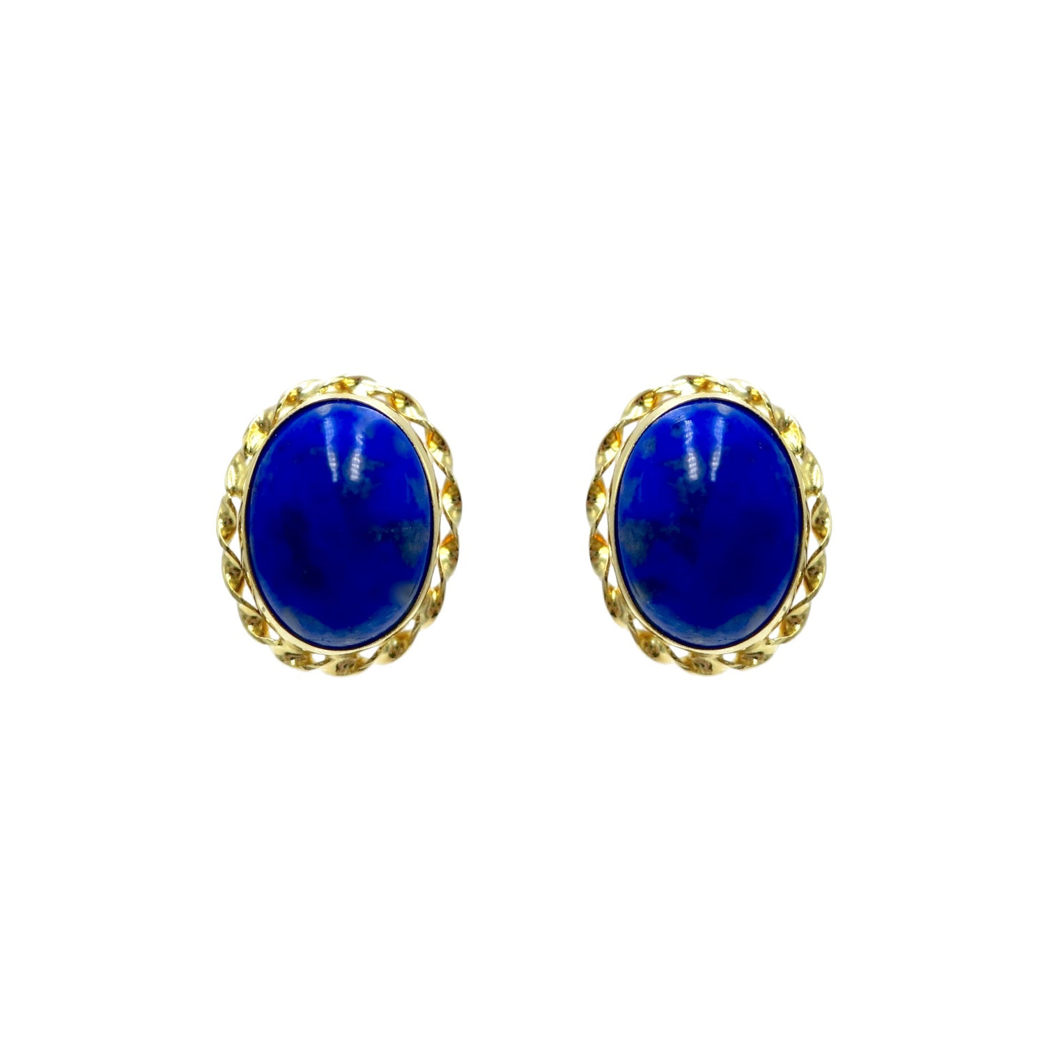 ea85468046f0ed ... stud earrings featuring a gem which was treasured by the ancient  civilizations of Mesopotamia, Egypt, China, Greece, and Rome. The royal  blue lapis ...