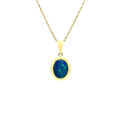 Opals Australia 14K Gold Opal Pendant
