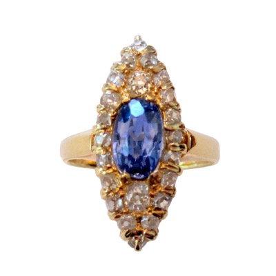2.15 Carat Ceylon Sapphire & Diamond Ring