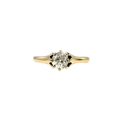 Antique Solitaire Diamond & Rose Gold Engagement Ring