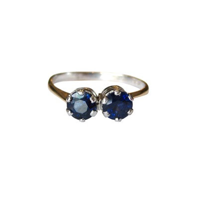 1 ctw Toi Et Moi Sapphire Ring