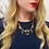 Thumbnail: Fine French Art Nouveau Sapphire & Pearl Necklace
