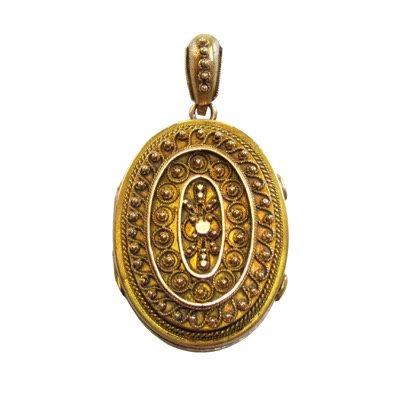 15K Gold Etruscan Revival Locket