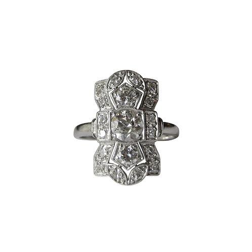 Vintage Diamond & Platinum Dinner Ring