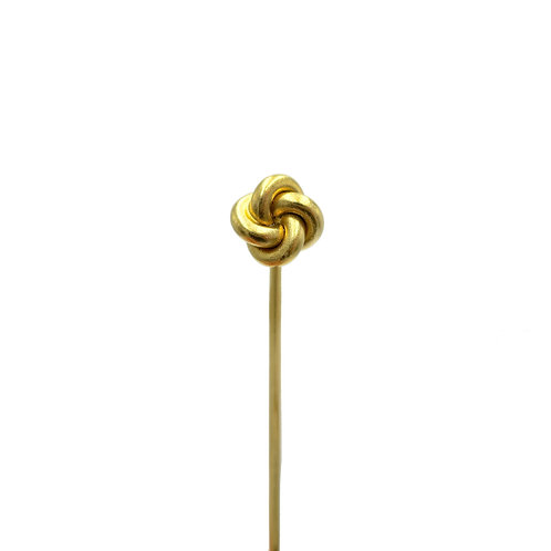 Antique Lover's Knot Gold Stick Pin