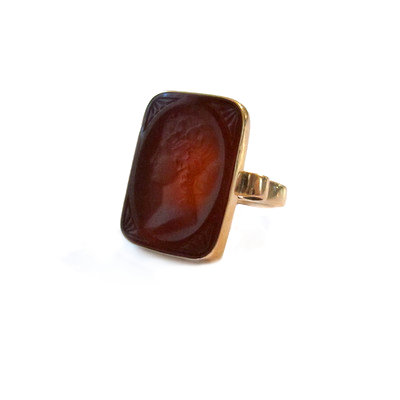 Carnelian Cameo/Intaglio Ring