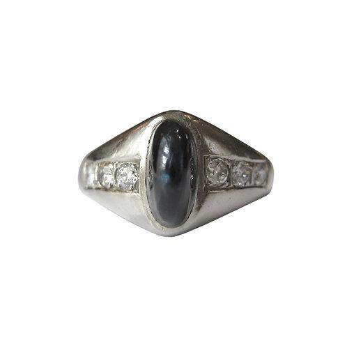 Art Deco Sapphire & Diamond 20K Ring