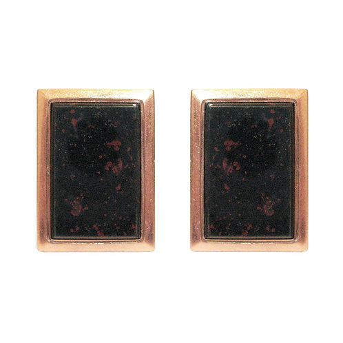 Antique Victorian Rose Gold Bloodstone Cufflinks