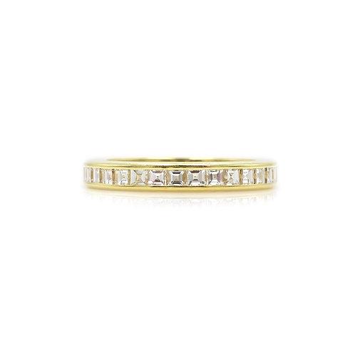 Estate 1 CTW Diamond & 18 Karat Yellow Gold Eternity Band Wedding Ring