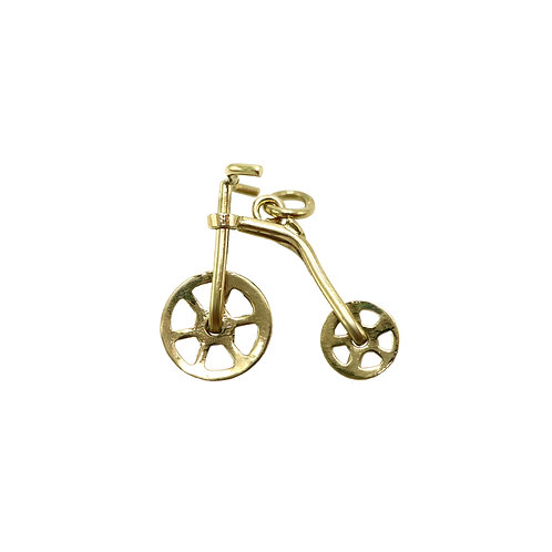 Vintage 10K Gold Old Fashioned Bicycle Charm