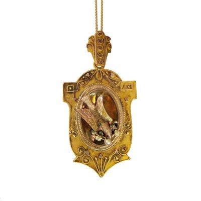 Victorian Dove Locket Pendant