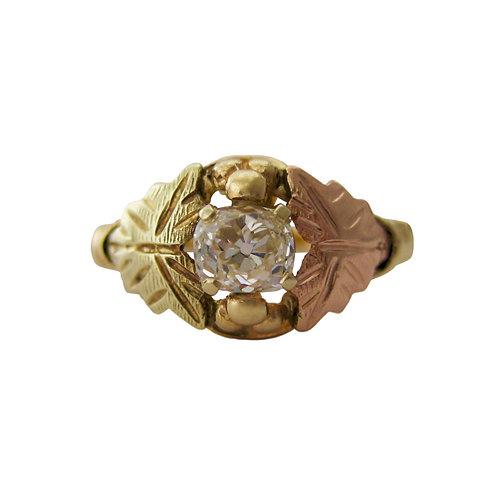 Cushion Cut Black Hills Gold Engagement Ring