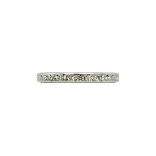 Vintage Diamond & Platinum Eternity Art Deco Band