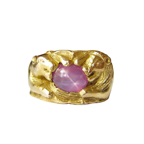 Star Ruby Lion & Lioness Ring