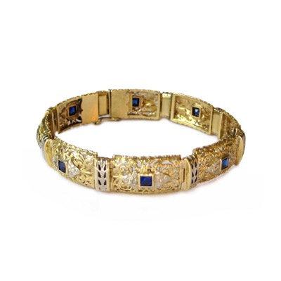 Vintage 18 Karat Gold Bracelet
