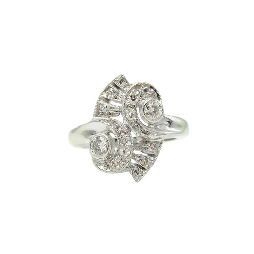 Retro Mid-Century .40 CTW Diamond Cocktail Ring