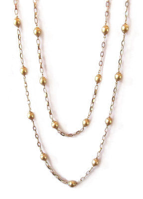 Victorian Revival Long Gold Chain